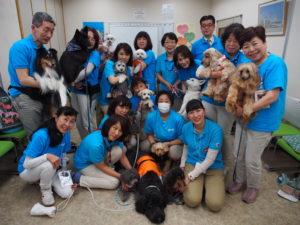 2019年集合写真ボランティア15人犬14匹